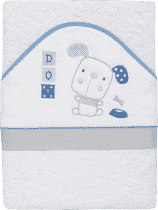 INTERBABY osuška detská froté 100x100 psík - biela / modrá