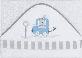 INTERBABY osuška detská froté 100x100 auto - modrá