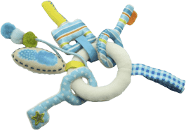 DUSHI Bryloczek na klucze, niebieski