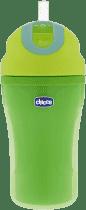 CHICCO Fľaša termo športové so slamkou, 18m + - zelená