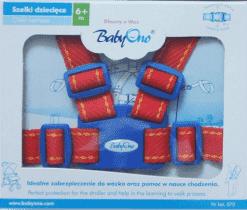 BABY ONO Popruhy na dítě – červené, 6m+