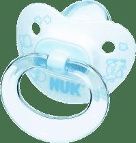 NUK Smoczek Classic niebieski, silikonowy, wielkość 1, 0-6m