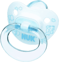NUK Cumlík Classic Modrý, silikón, veľ.1 (0-6m.)