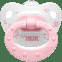 NUK Cumlík Classic ružový, silikón, veľ.2 (6-18m.)