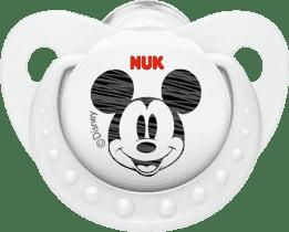 NUK biely Cumlík Trendline DISNEY-Mickey, silikon, veľkosť 2 (6-18m.)