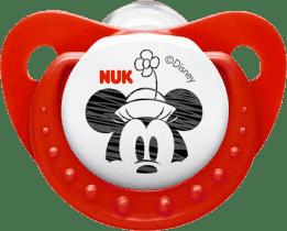 NUK červený Dudlík Trendline DISNEY-Mickey, silikon, velikost 2 (6-18m.)
