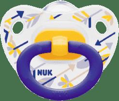 NUK Dudlík Classic HAPPY DAYS, silikon, velikost 2 (6-18m.) - šípy