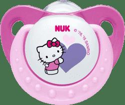 NUK Dudlík Trendline HELLO KITTY,Silikon,V2 (6-18m.) - Růžový