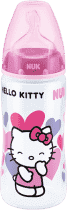 NUK FC+ Butelka HELLO KITTY PP, 300 ml, silikon, rozmiar 2, M – różowa