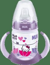 NUK FC Buteleczka do nauki picia PP HELLO KITTY, 150 ml, silikonowy ustnik – fioletowa