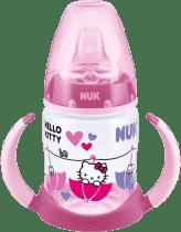 NUK FC fľaštička na učenie PP HELLO KITTY, Silikón náustok, 150ml - Ružová