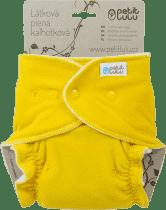 PETIT LULU Žltý medvedík (velúr) - nohavičková plienka pat