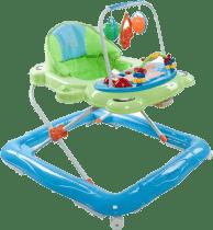 SUN BABY Detské chodítko Foot - zeleno modrá