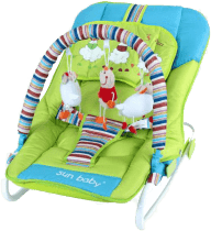 SUN BABY Dziecięcy leżaczek Safari – Sheep