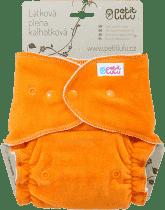 PETIT LULU Oranžová kachnička (velur) - kalhotková plena pat