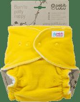 PETIT LULU Žltá maxi / nočná plienka + krátka vkladacia plienka pat
