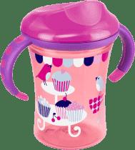 NUK EASY LEARNING Kubeczek do nauki picia 2 - z uchwytami, 250 ml – różowy