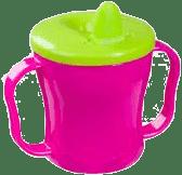 BABY ONO Hrnek netekoucí se sklápěcím náustkem - modro-růžovo-zelená