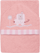 INTERBABY Dětská osuška 100x100 – růžová