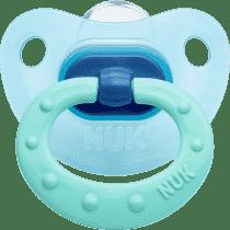 NUK modrý Cumlík Classic FASHION, silikon, veľkosť 1 (0-6m.)
