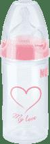 NUK NEW CLASSIC Fľaša LOVE PP 150ml, Silikón, Veľkosť 1, M - ružová