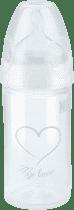 NUK NEW CLASSIC Fľaša LOVE PP 150ml, Silikón, Veľkosť 1, M - biela