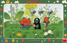DINO Puzzle Planszowe Krecik na wycieczce 15szt