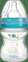 BABY ONO Kojenecká antikoliková láhev, široké hrdlo 120 ml - modrá
