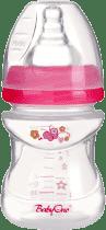 BABY ONO Antykolkowa butelka do karmienia, szerokie gardło, 120 ml, różowa