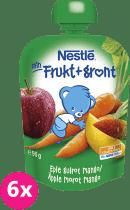 6x NESTLÉ Veggie Jablko, mrkev, mango 90g - ovocno-zeleninová kapsička