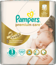 PAMPERS Premium Care 1 NEWBORN 22ks (2-5kg) CARRY pack - jednorazové plienky