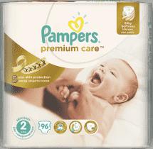 PAMPERS Premium Care 2 MINI 96 szt. (3-6kg) JUMBO Pack – pieluchy jednorazowe