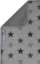 DOOKY Blanket deka Grey Stars/Grey