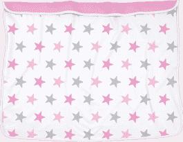 DOOKY Blanket kocyk Pink Stars/Baby Pink