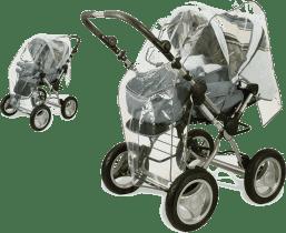 DIAGO Folia przeciwdeszczowa do wózków wielofunkcyjnych z przekręcaną rękojeścią
