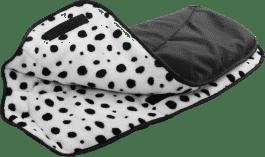 DIAGO Mufka do wózka – czarna / dalmatyńczyk
