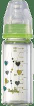 BABY ONO Kojenecká skleněná láhev Standard 120 ml 0m + zelená