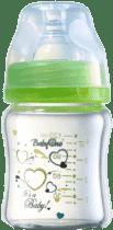 BABY ONO Kojenecká skleněná láhev Standard 120ml 0m+ zelená