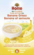 HOLLE Organická ovocná kaše banán-krupice, 250g