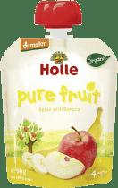 HOLLE Bio ovocné pyré jablko a banán, 90g