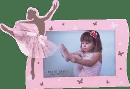 Baletnica - Dekoracyjna ramka na zdjęcia - różowy