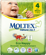 MOLTEX Nature no. 1 Maxi, 30 ks (7 - 18 kg) – jednorázové plienky