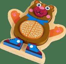OOPS Happy Puzzle! - Zvířátkové puzzle na doske 9ks Medvedík