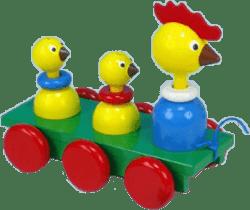 MIVA Tri sliepky drevo - ťahacie farebné