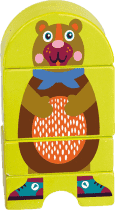 OOPS Dřevěné magnetické puzzle Medvídek