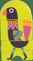 OOPS Dřevěné magnetické puzzle Páv