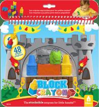 WOOKY Block Crayon maľovanky rytieri 5ks paste