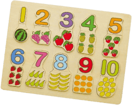 STUDO WOOD Vkládačka čísla+ovoce