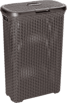 CURVER Kosz na pranie Natural Style 40l, brązowy
