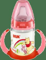 NUK Butelka do nauki picia Disney (silikon) 150 ml – czerwona